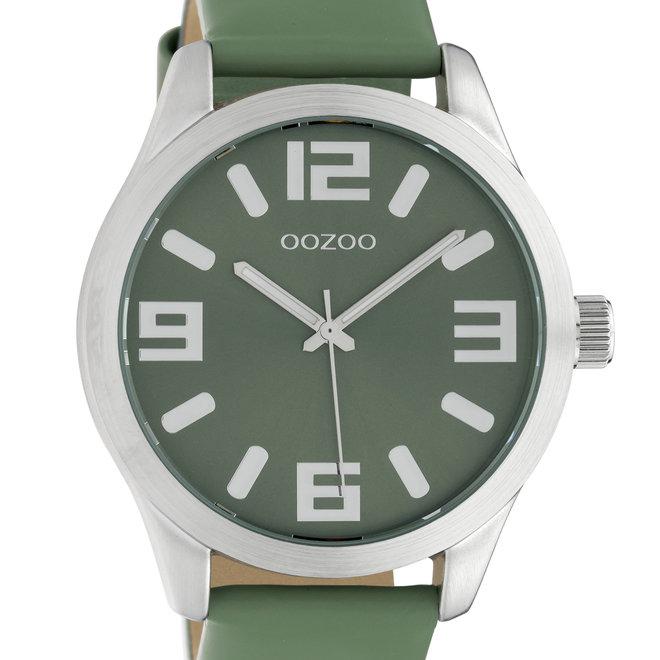 OOZOO Timepieces - C10238 -  Unisex - Leder-Armband - Biscaygrün/Silber