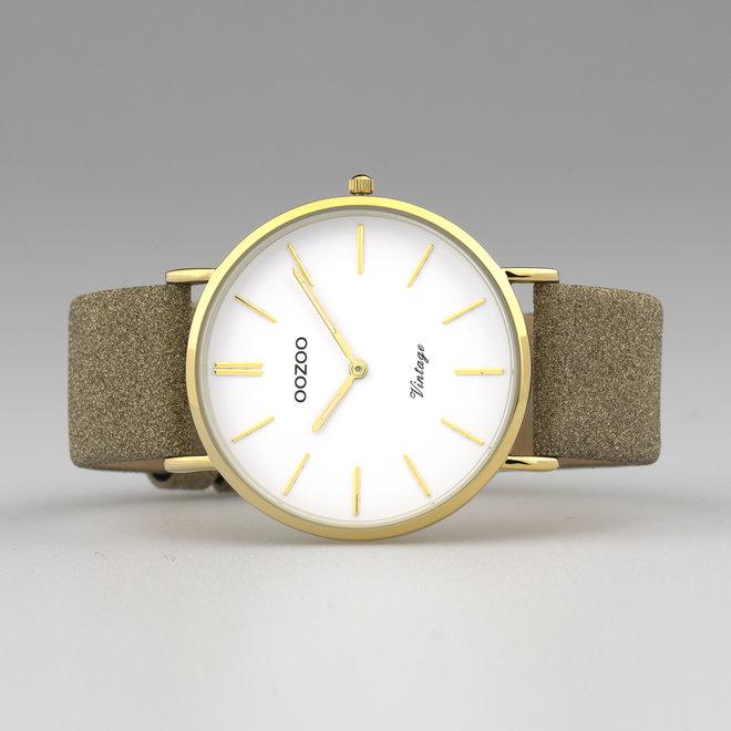 OOZOO Vintage - C20148 - Damen - Leder - Glitzer - Armband Gold/Gold