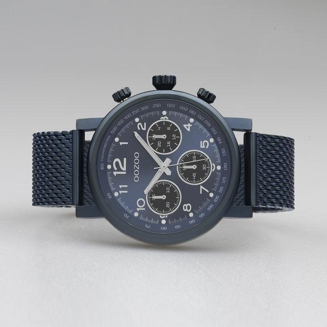 OOZOO Timepieces - C10701 - Unisex - Mesh-Armband - Blau/Blau