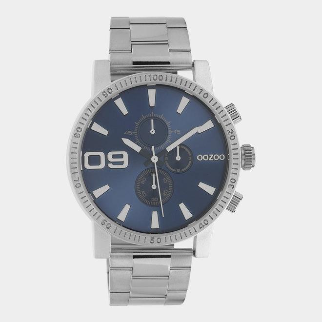 OOZOO Timepieces - C10705 - Herrenuhr - Glieder-Armband - Silber/Blau