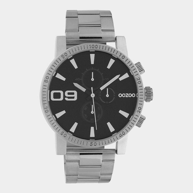OOZOO Timepieces - C10706 - Herrenuhr - Glieder-Armband - Silber/Schwarz