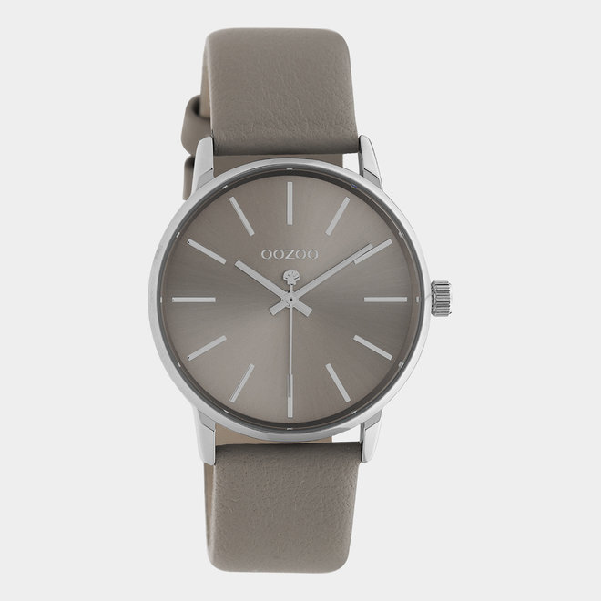 OOZOO Timepieces - C10722 - Damenuhr - Leder-Armband  - taupe/silber