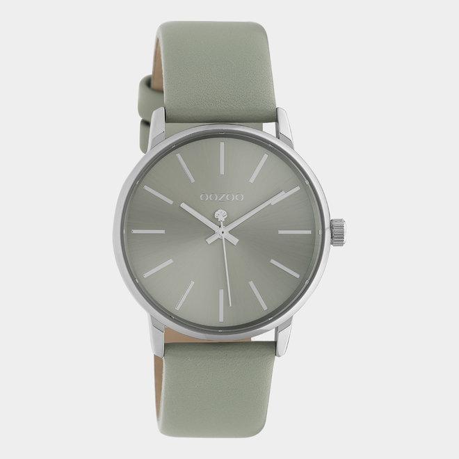 OOZOO Timepieces - C10723 - Damenuhr - Leder-Armband  - grau/silber