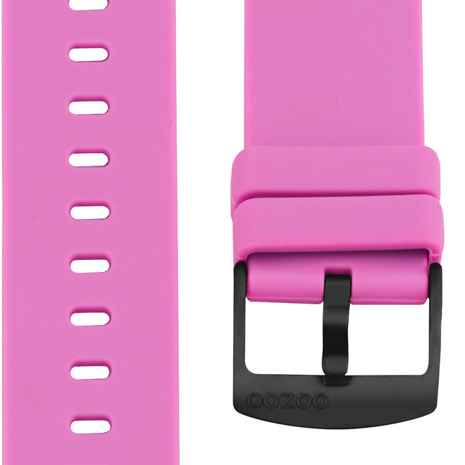 OOZOO - Silikon-Armband - 20mm - Pink/Schwarz