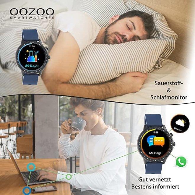 OOZOO Smartwatches - Unisex - Edelstahl-Mesh-Armband - Silber