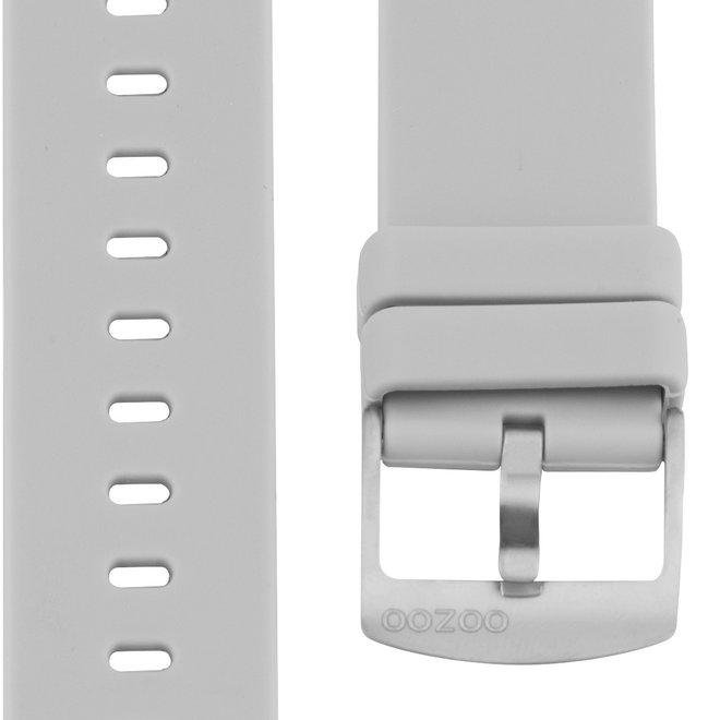 OOZOO - Silikon-Armband - 20mm - Grau/Silber