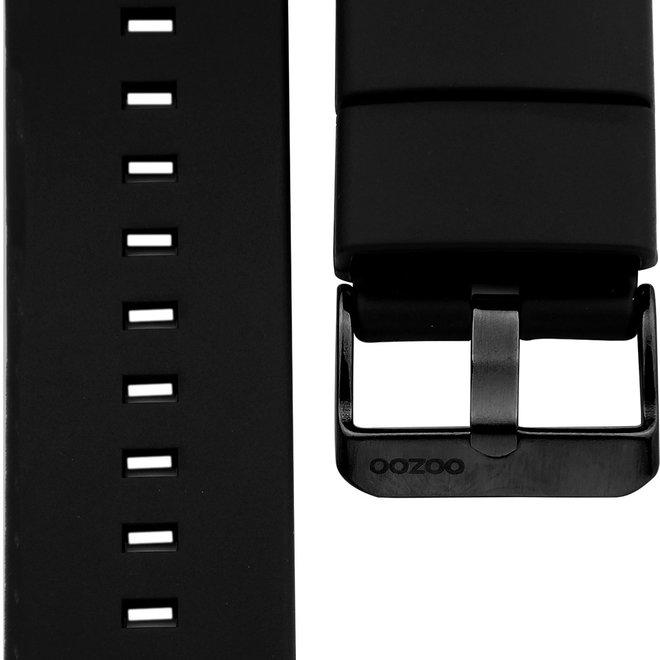OOZOO - Silikon-Armband - 20mm - Schwarz