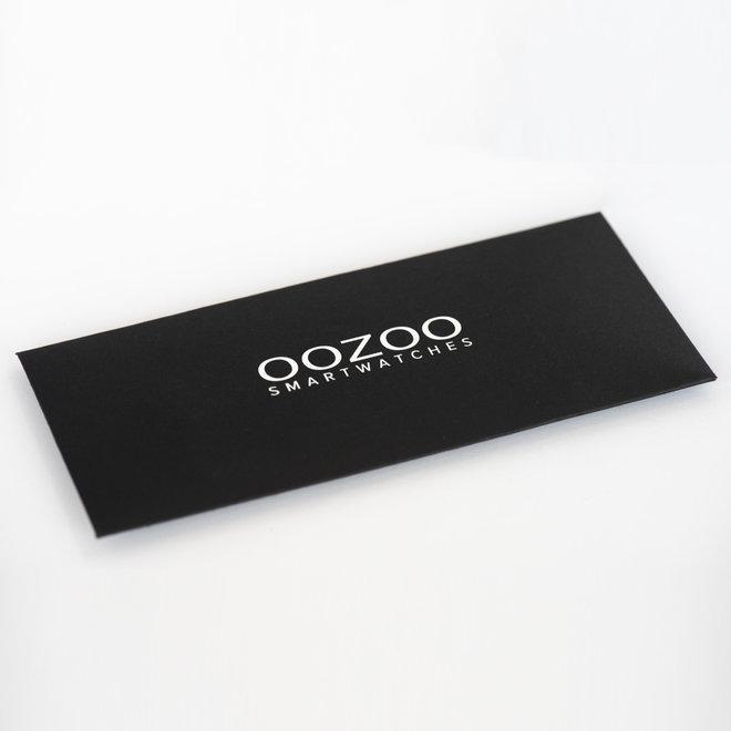 OOZOO - Silikon-Armband -  20mm -  Taupe/Silber