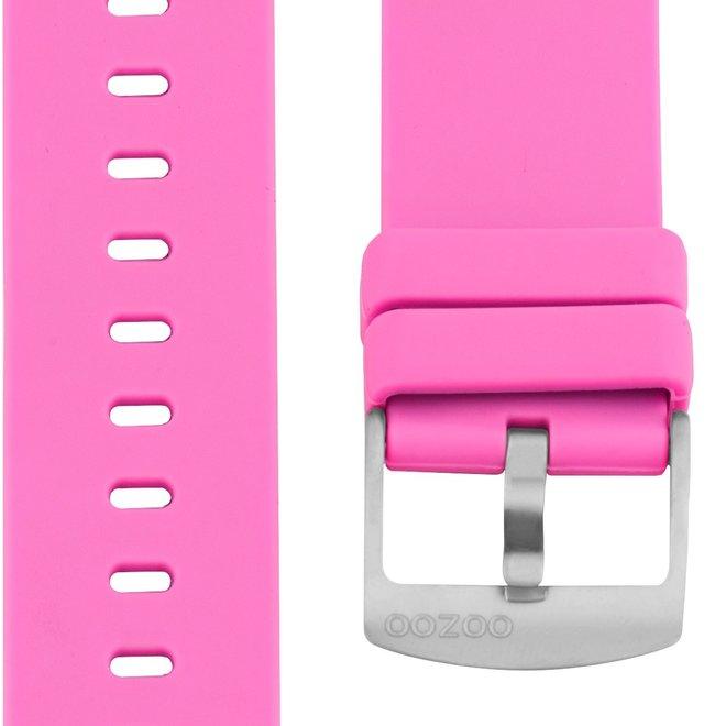 OOZOO - Silikon-Armband -  20mm -  pink/Silber