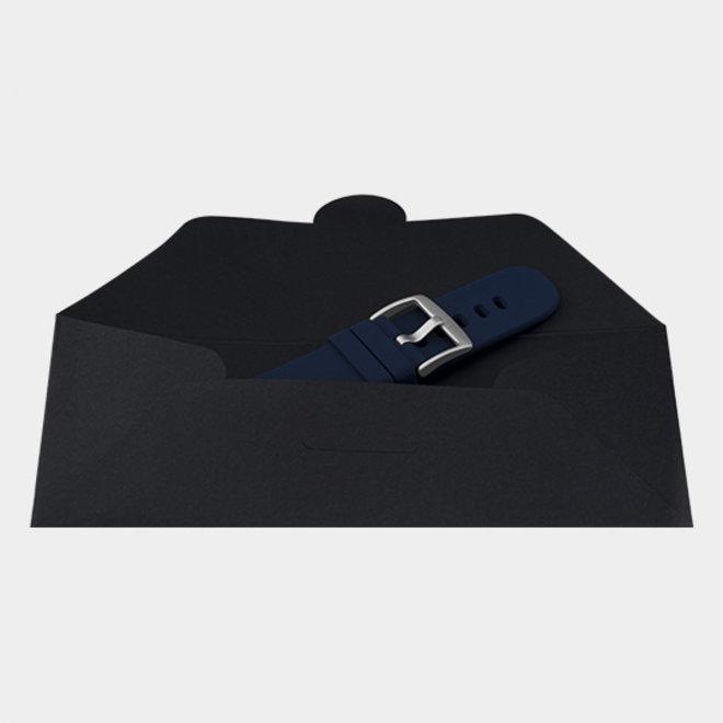 OOZOO - Silikon-Armband -  20mm -  Blau/Silber