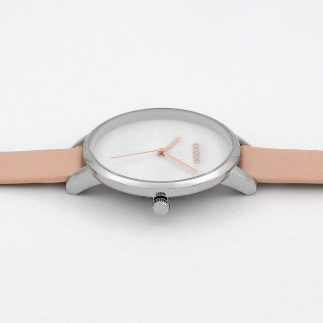 OOZOO Timepieces - C9587 - Damenuhr - Leder-Armband  - rosa/silber