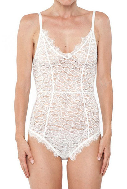 Lace Bodysuit - White