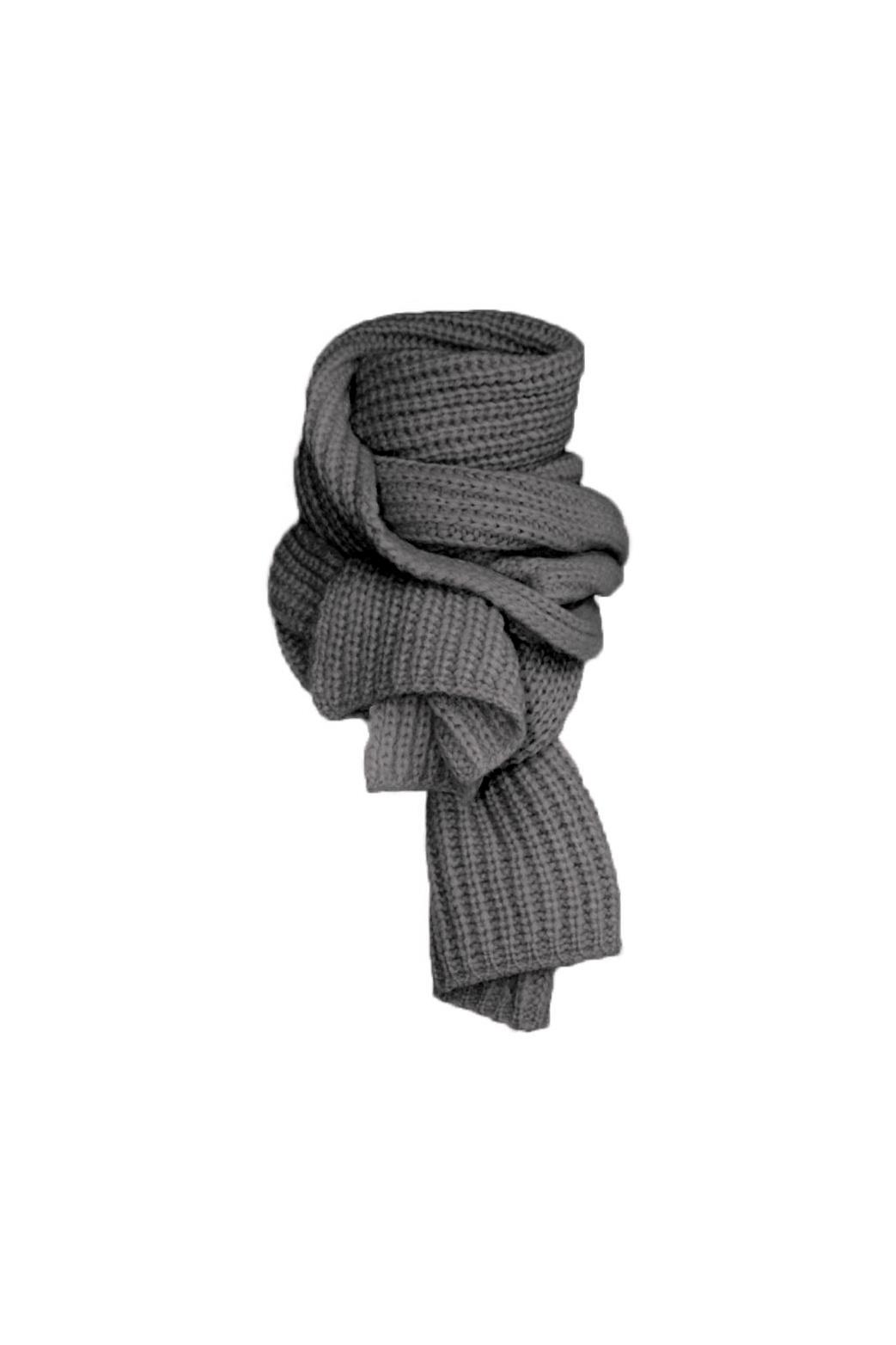 December Scarf - Dark Melange Grey-1