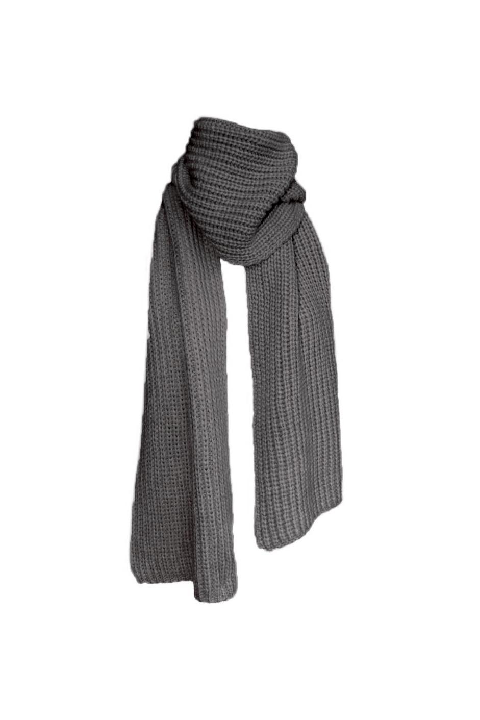 December Scarf - Dark Melange Grey-2