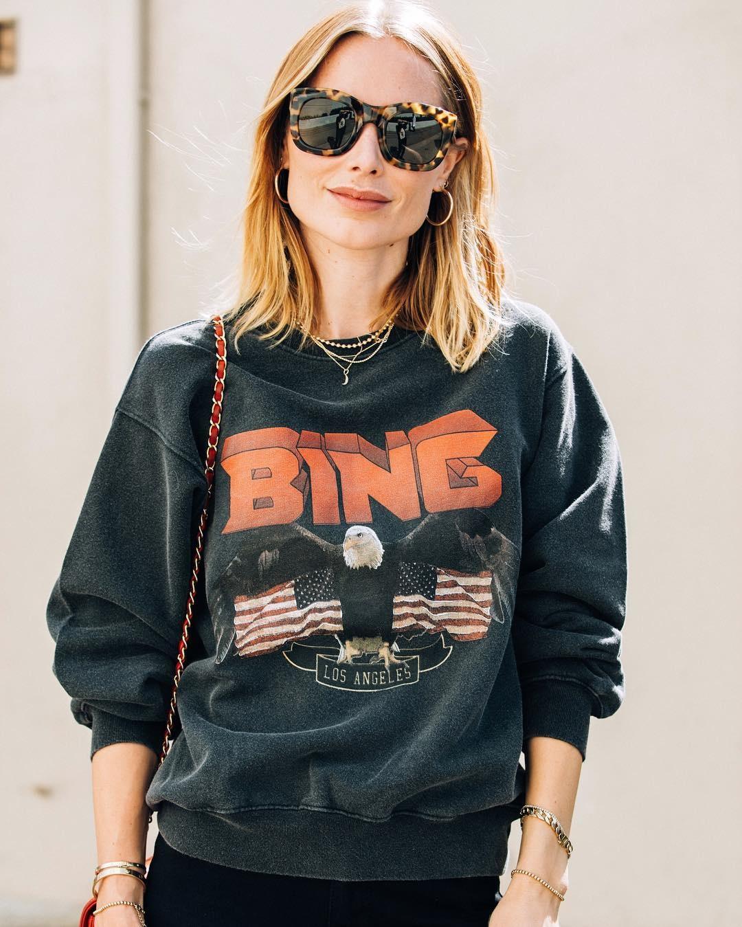 Vintage Bing Sweatshirt - Black-8