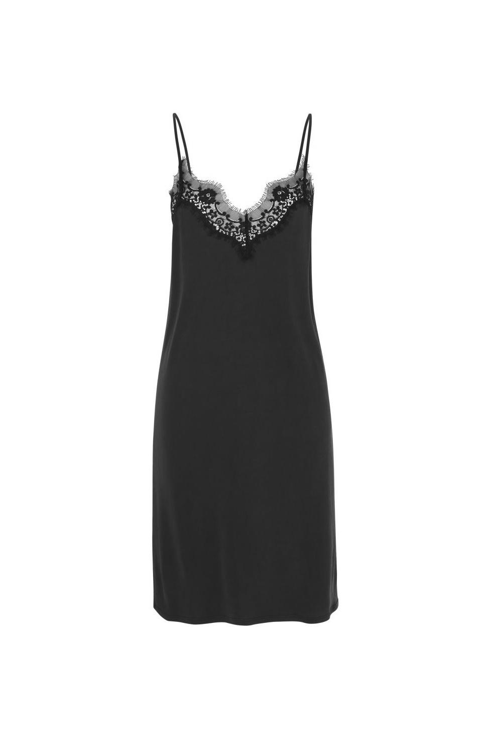 Dallas Slip Dress - Black-1