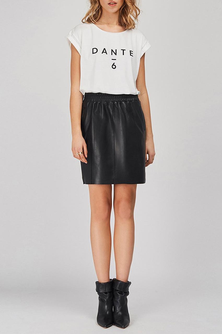 Eshvi Leather Skirt - Raven-2