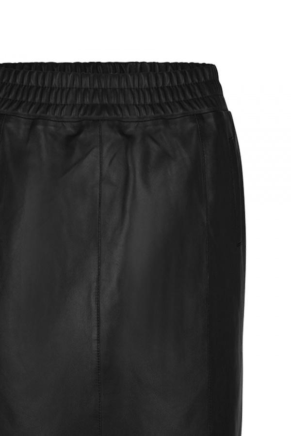 Eshvi Leather Skirt - Raven-4