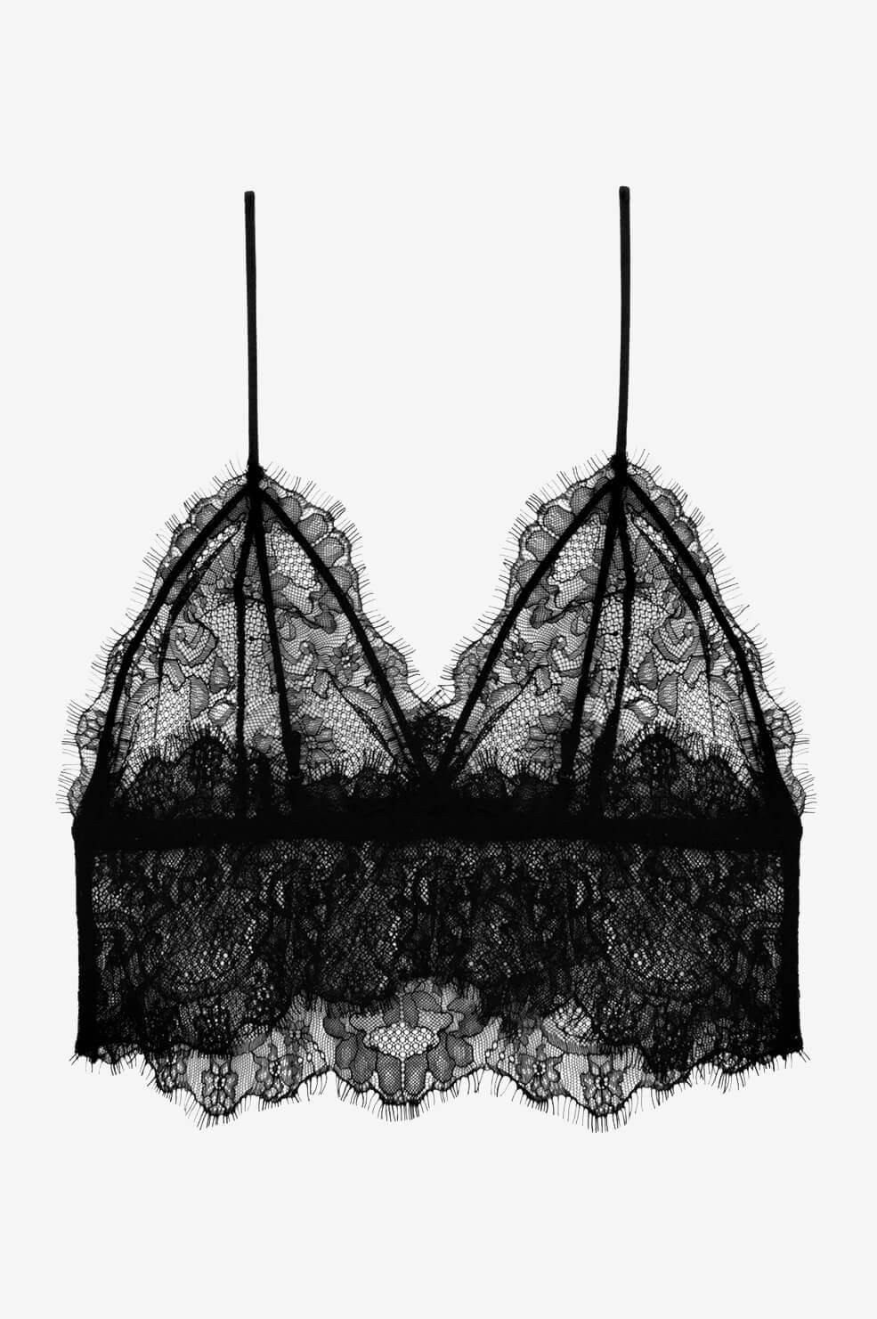Lace Bralette - Black-2