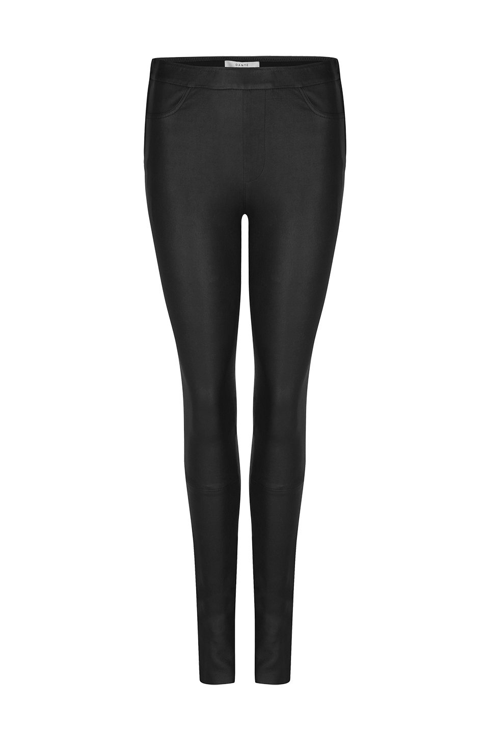 Campbell Leather Legging - Raven-1