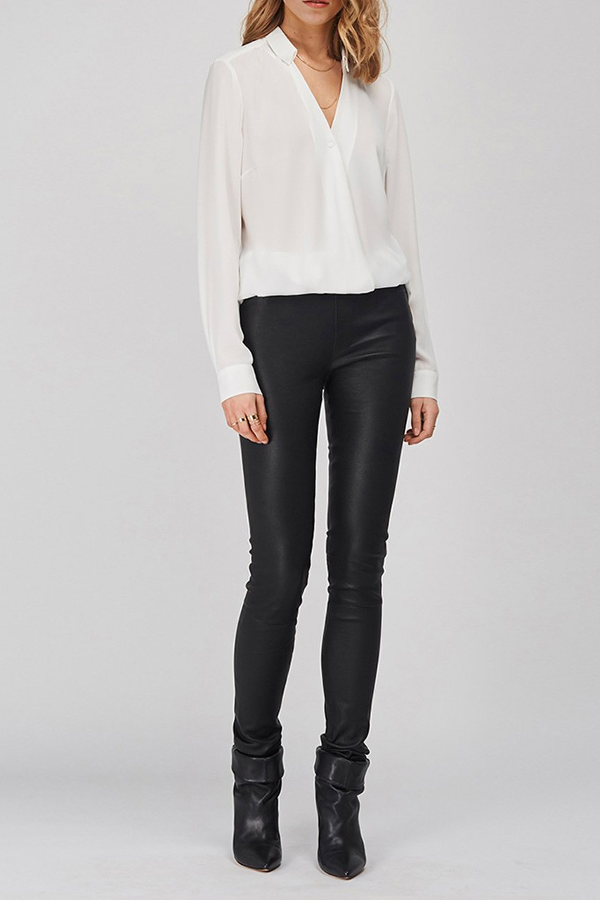 Campbell Leather Legging - Raven-2