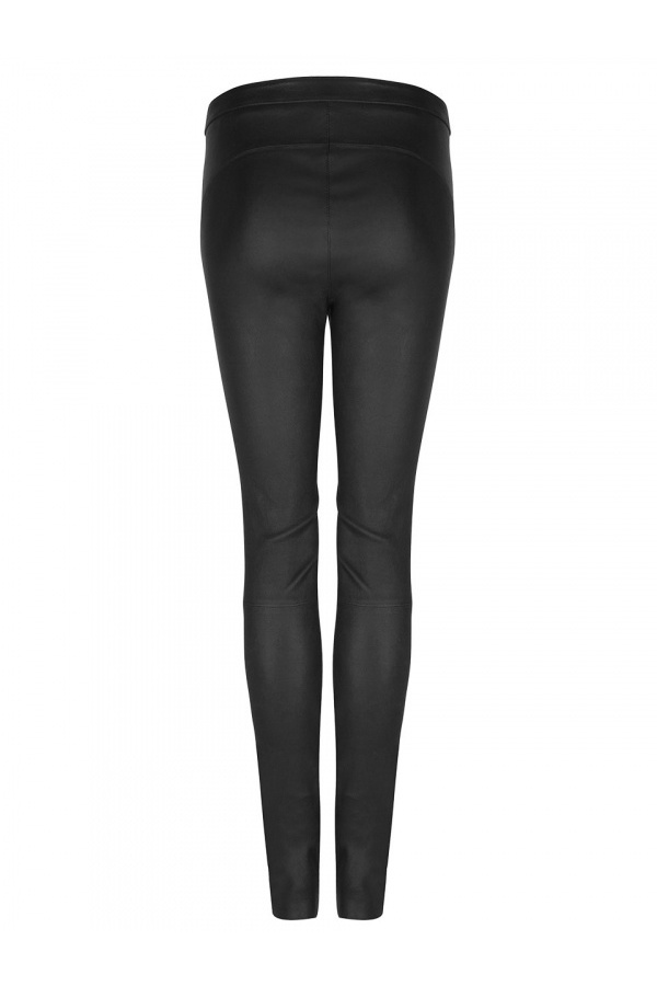 Campbell Leather Legging - Raven-3