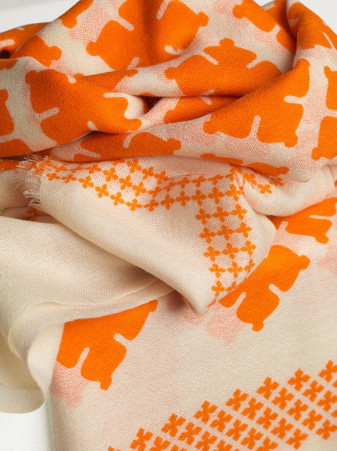 Wool Twill Scarf - Clemence-3