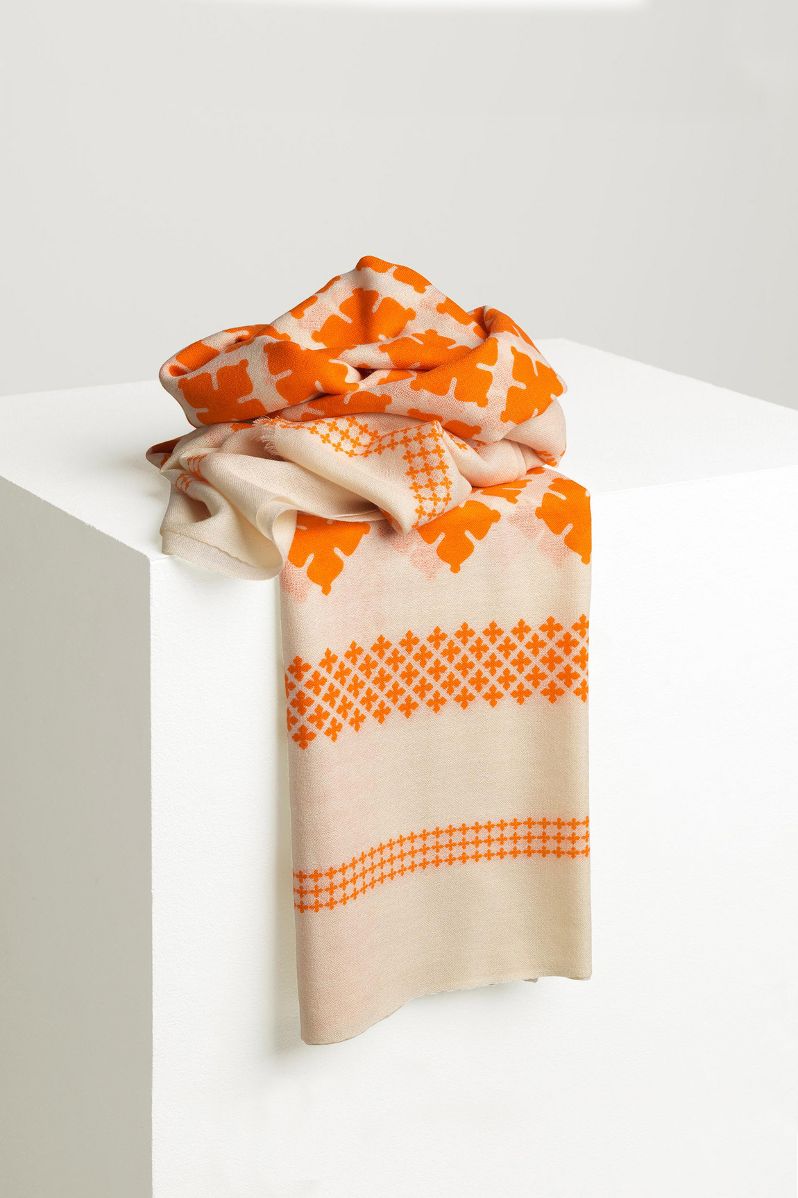 Wool Twill Scarf - Clemence-2