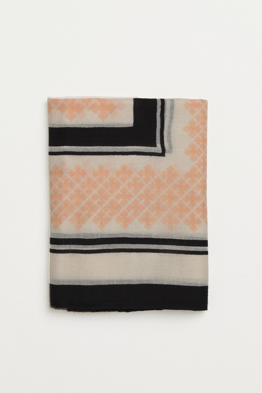 Wool Twill Scarf - Pink Sand-4