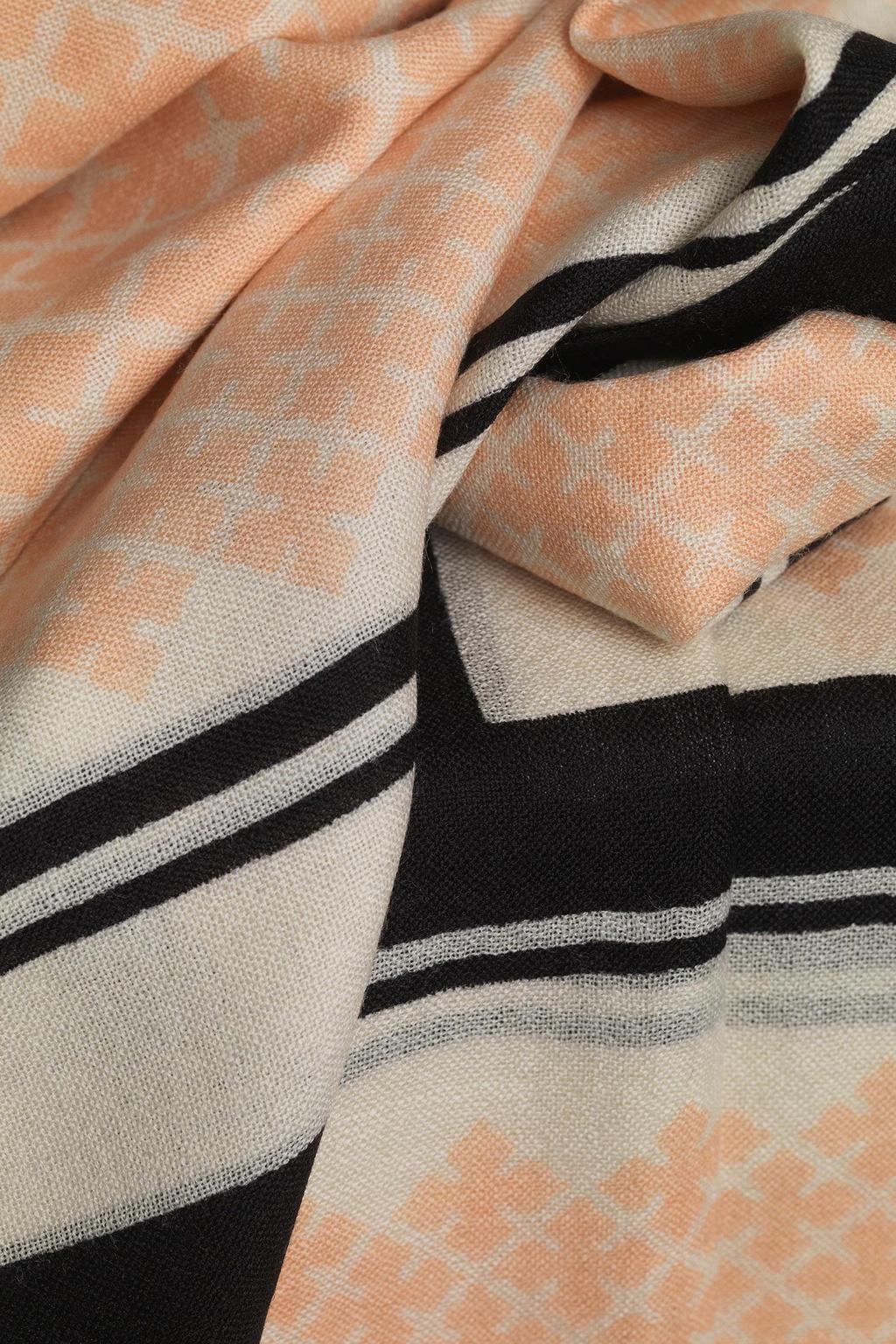 Wool Twill Scarf - Pink Sand-3