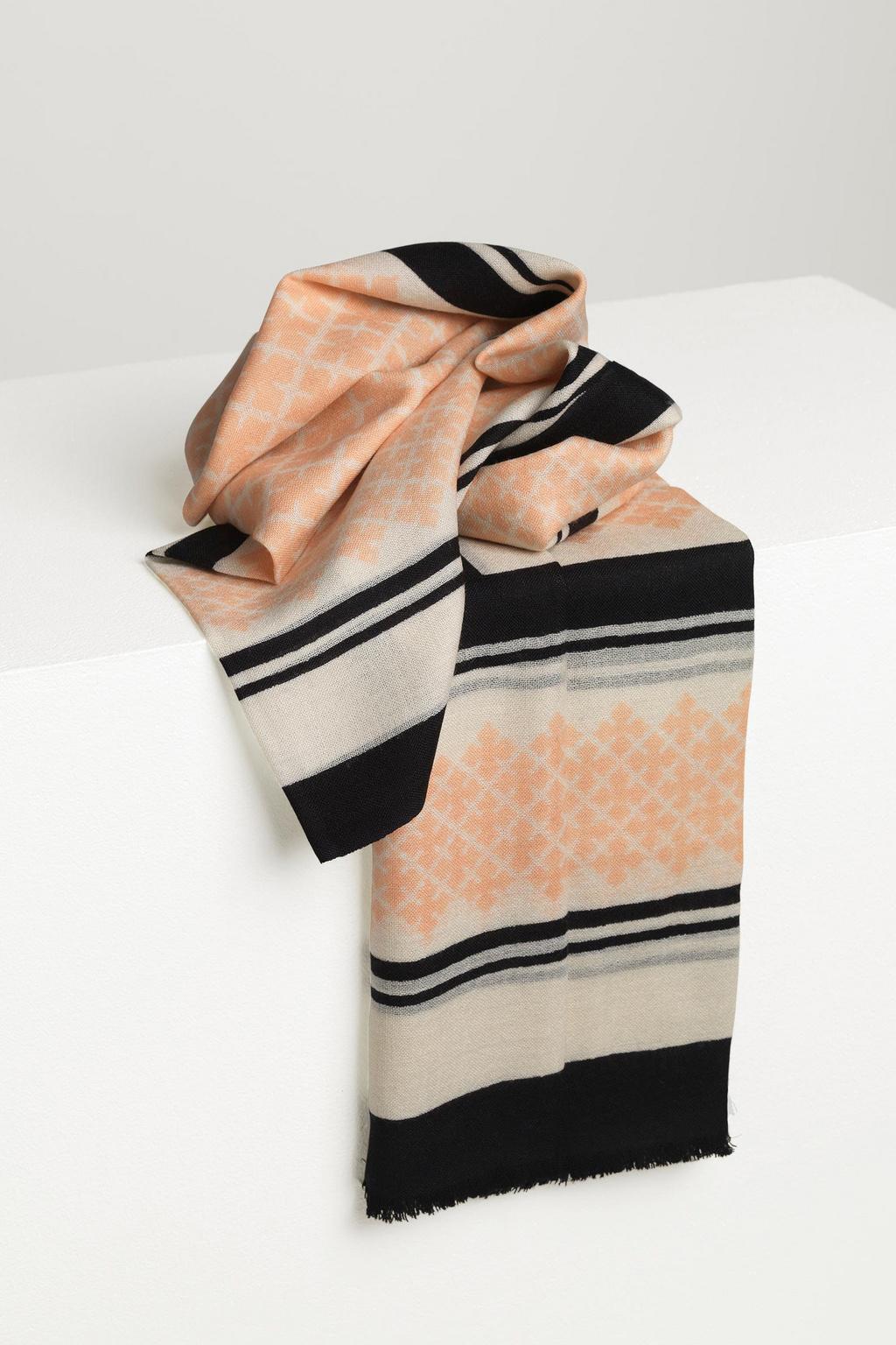 Wool Twill Scarf - Pink Sand-2
