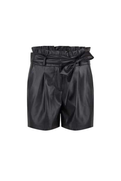 Nola Faux Leather Short - Raven