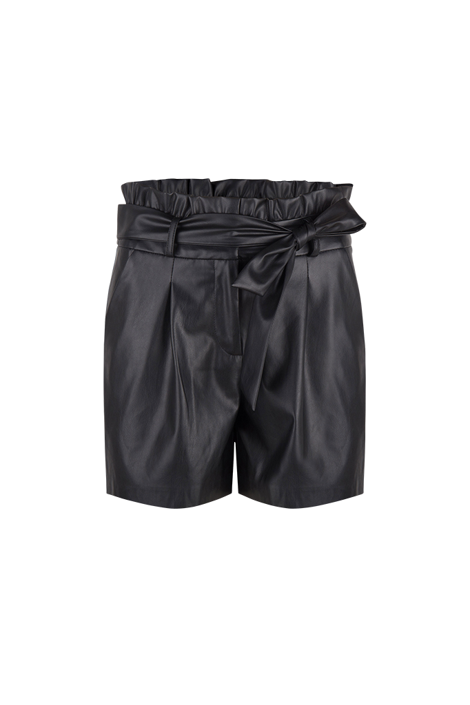 Nola Faux Leather Short - Raven-1