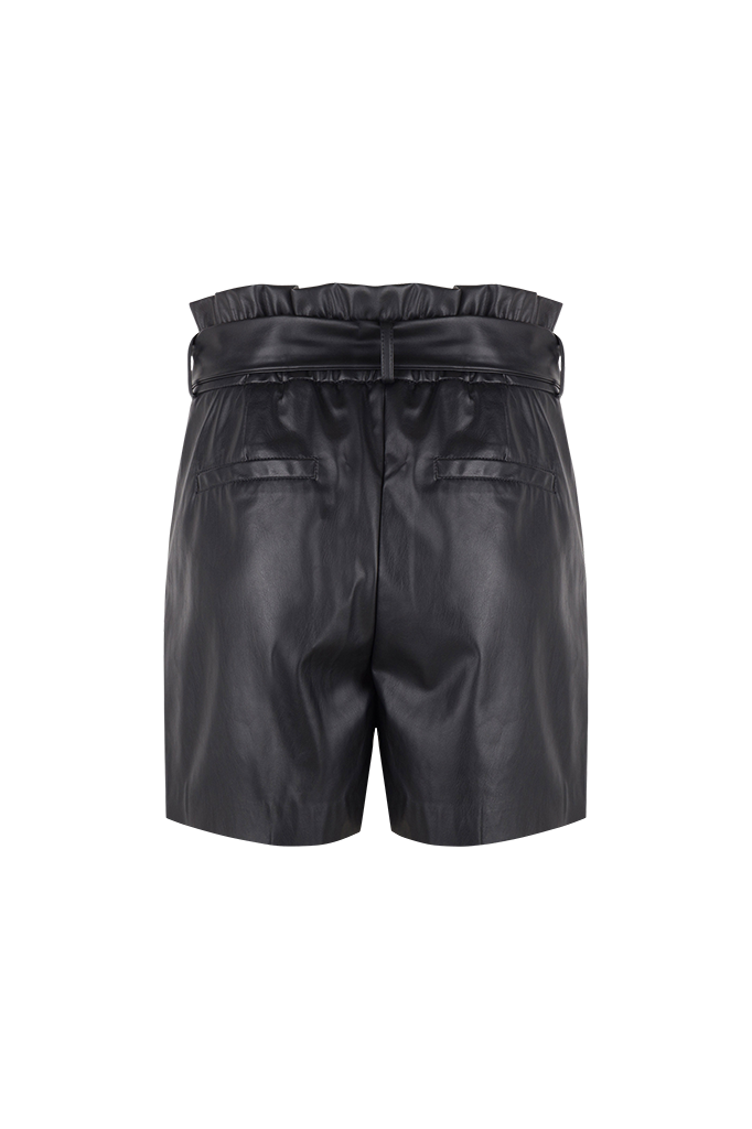 Nola Faux Leather Short - Raven-3
