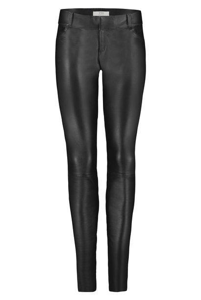 Gemstone Leather Pants - Black