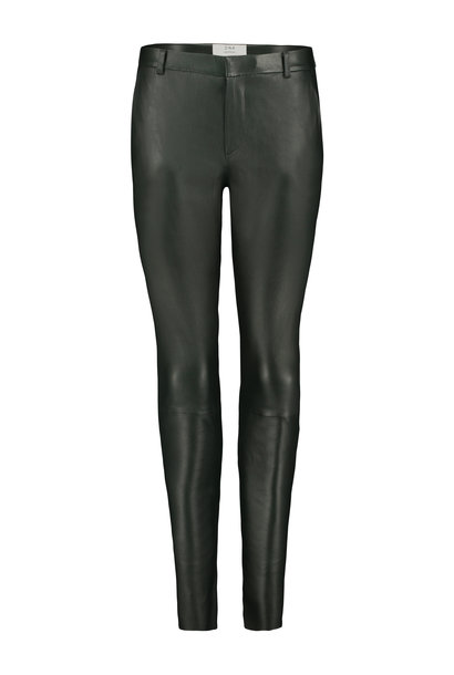 Gale Leather Pants - Deep Green