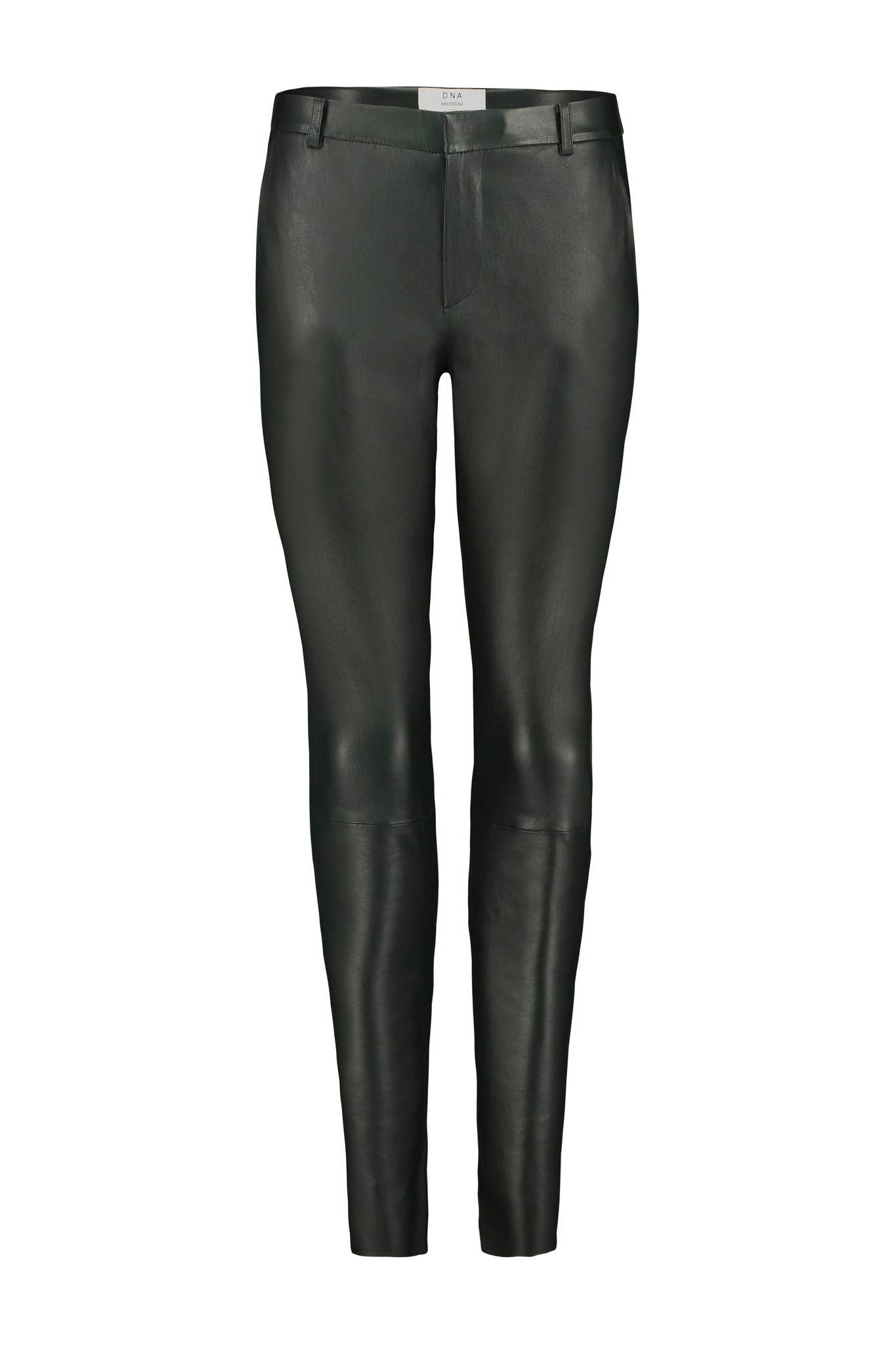 Gale Leather Pants - Deep Green-1