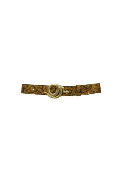 Milo Leather Belt - Autumn Snake