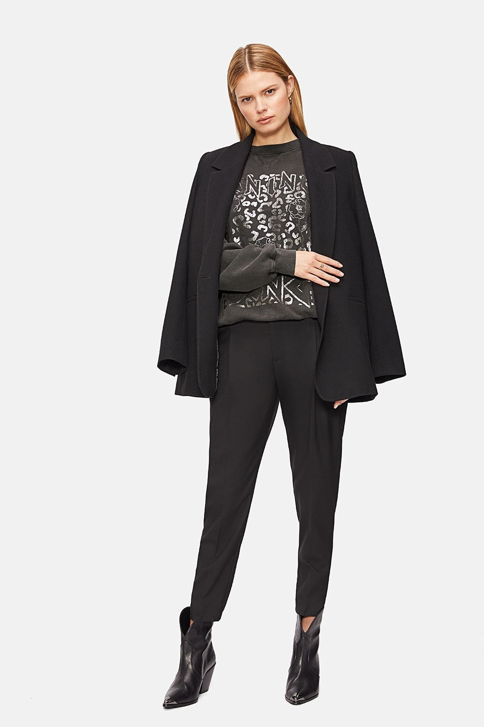 Ramona Leopard Sweatshirt - Washed Black-3