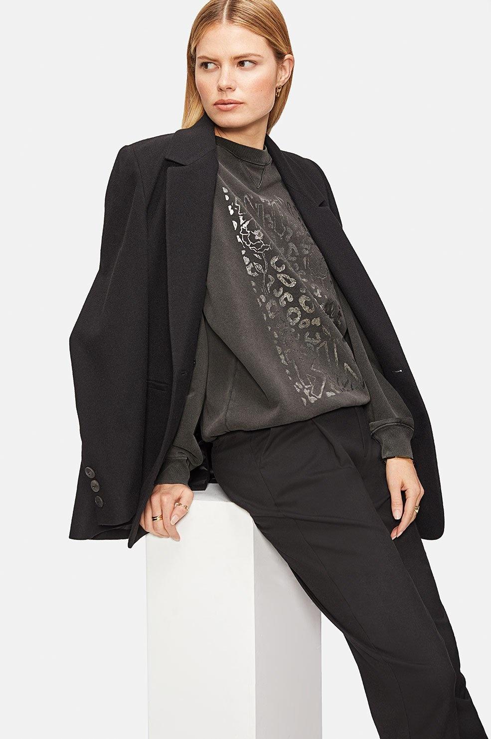 Ramona Leopard Sweatshirt - Washed Black-4
