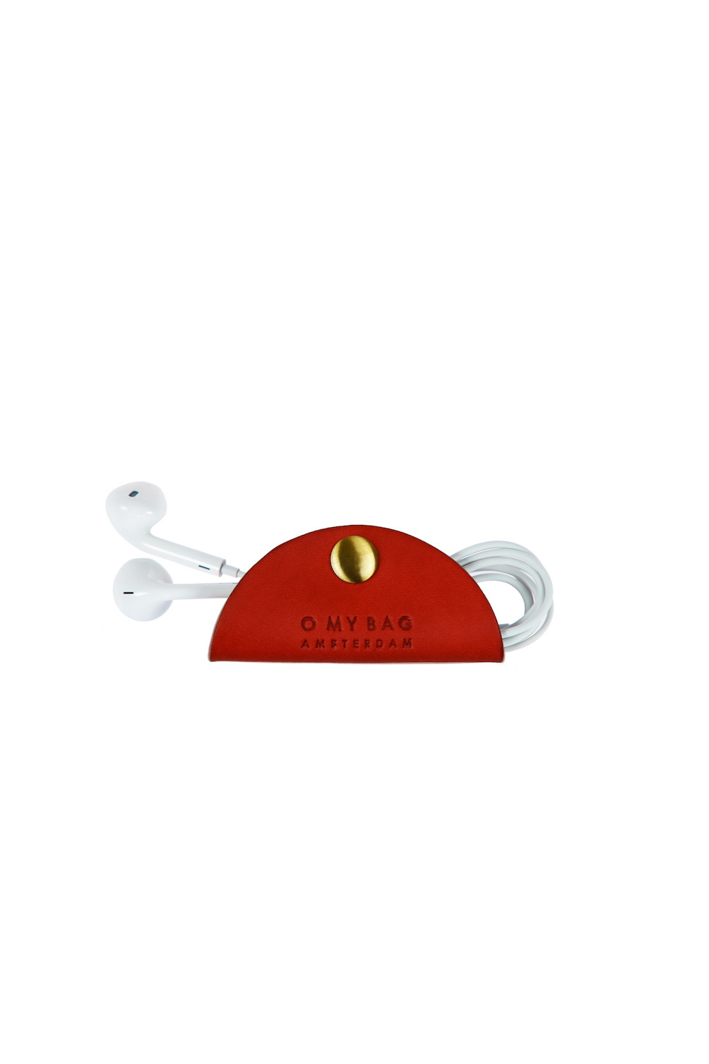 Taco Cord Holder - Red Classic Leather-2