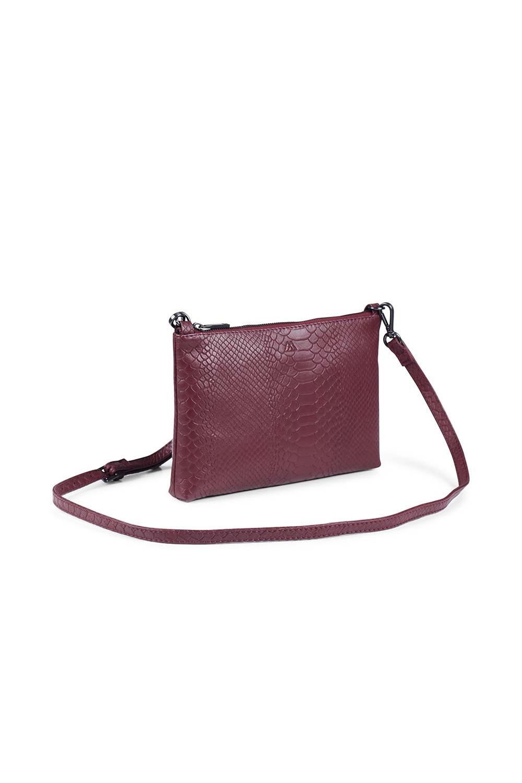 Zelda Crossbody Bag Snake - Burgundy-2