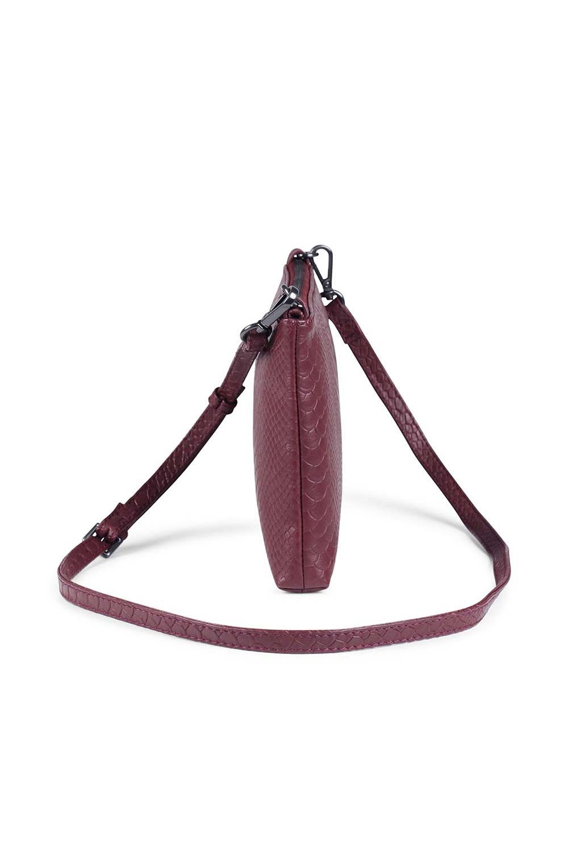 Zelda Crossbody Bag Snake - Burgundy-3