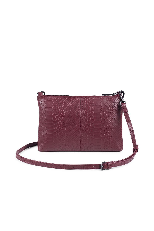 Zelda Crossbody Bag Snake - Burgundy-4