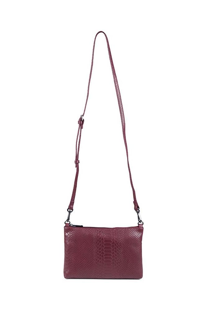 Zelda Crossbody Bag Snake - Burgundy-5