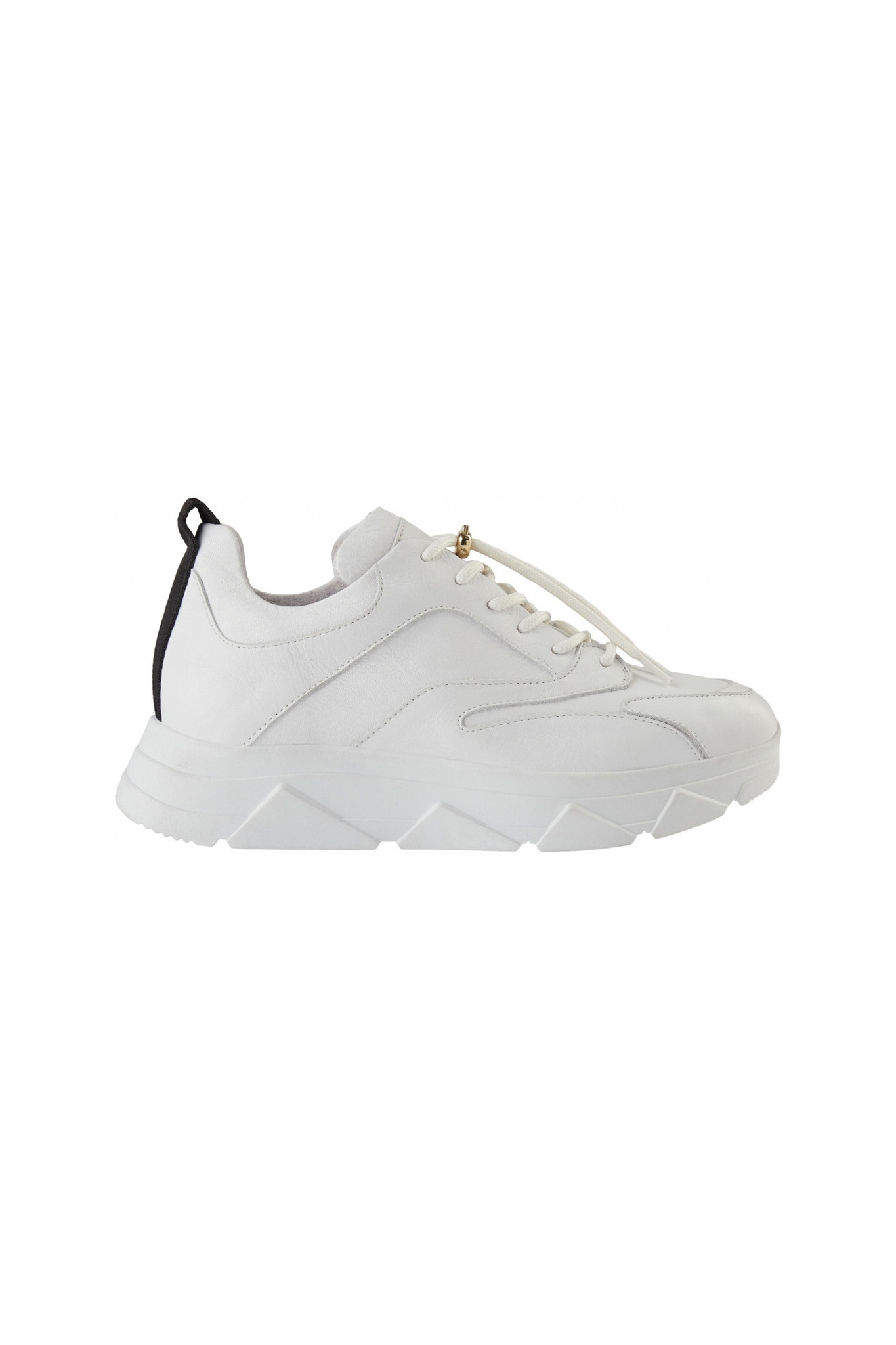 Portia Leather Sneaker - White-1