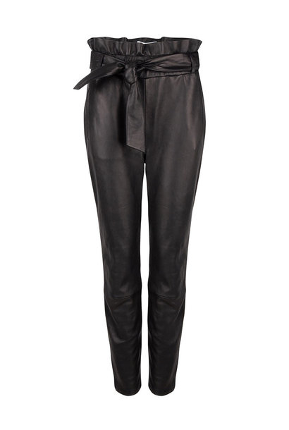 Duncan Leather Pants - Raven