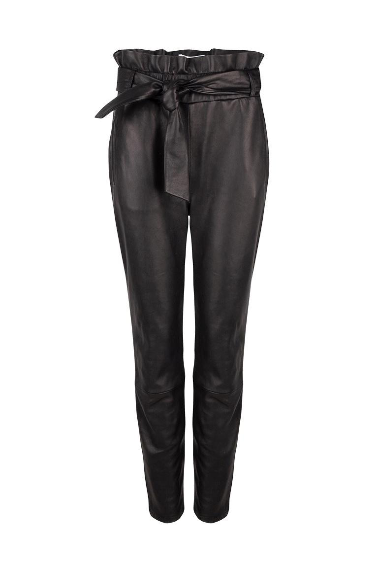 Duncan Leather Pants - Raven-1