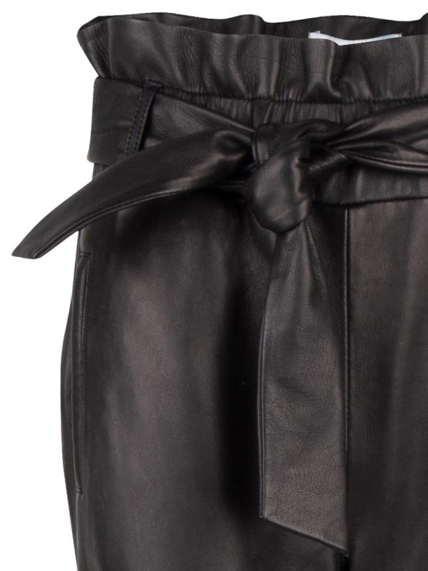 Duncan Leather Pants - Raven-4