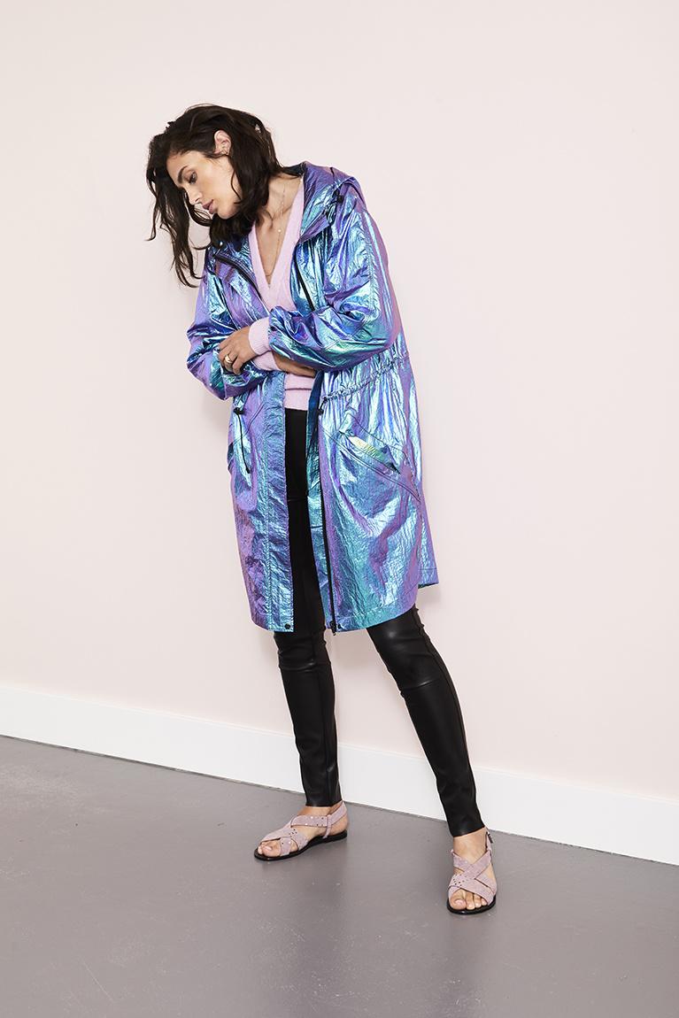 Gaga Kunst Leren Legging - Raven Zwart-2